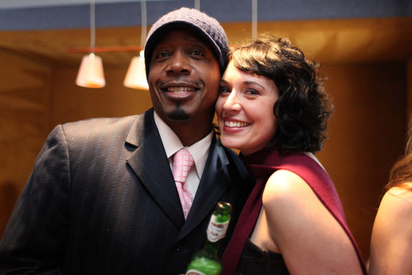 MC Hammer and Sarah Lacy at our party in Vegas for CES