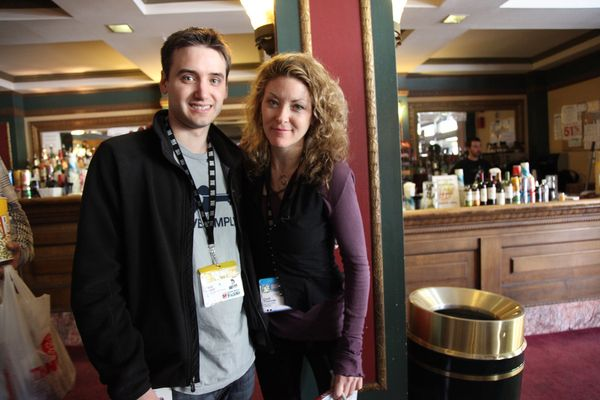Ondi Timoner and Frank Gruber at SXSW after We Live In Public