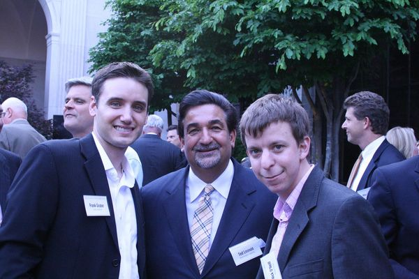 Nick O'Neill and I with Ted Leonsis (and Steve Case over my right shoulder).
