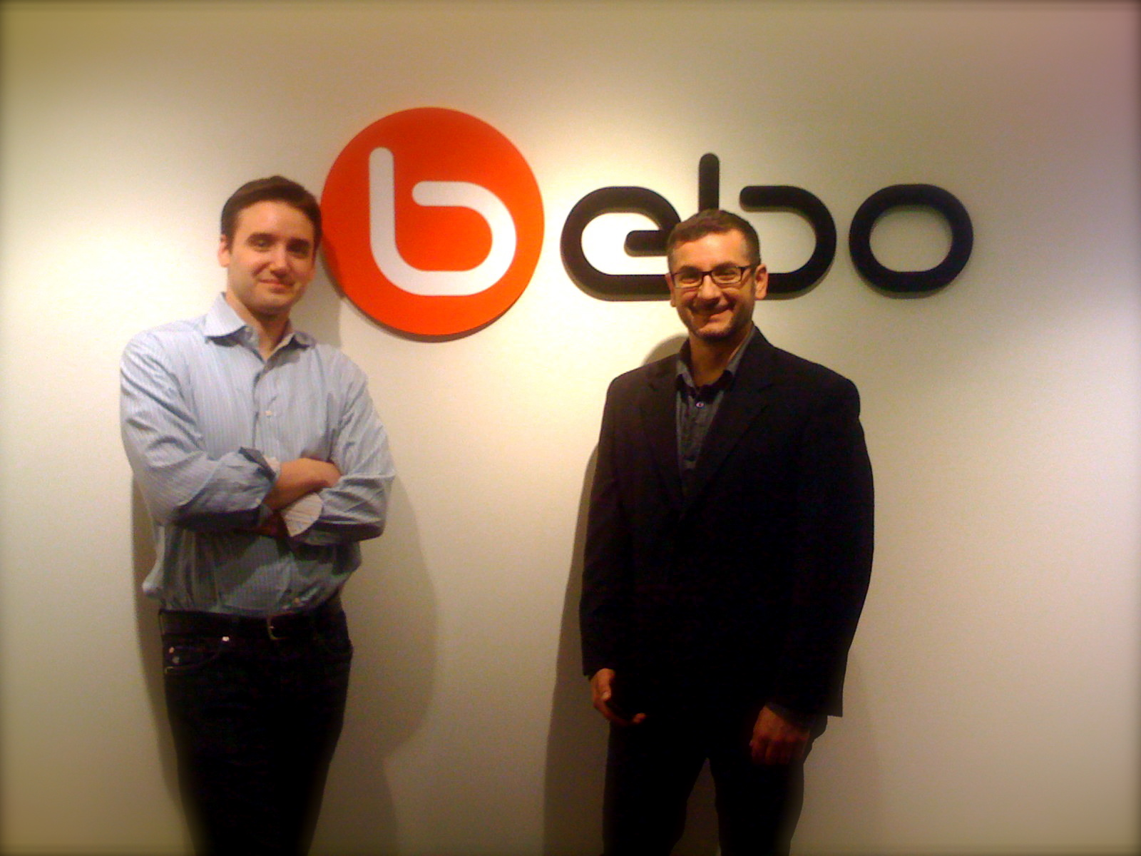 Frank Gruber & Greg Cangialosi at Bebo in San Francisco