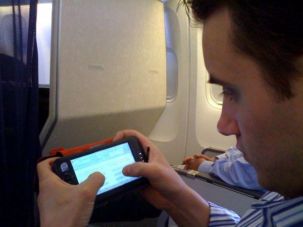 Testing Viliv on the Plane